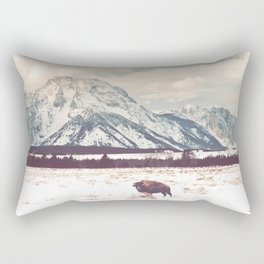 Bison & Tetons Rectangular Pillow