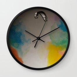 Parakite Warm 2 (watercolor mashup) Wall Clock