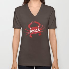 Maryland Red Crab Local Unisex V-Neck