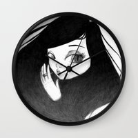 cigarette Wall Clocks featuring cigarette by Caitlin Roberts