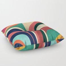 Impossible contour map Floor Pillow