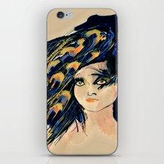 Peacock Girl Variation 1 iPhone & iPod Skin