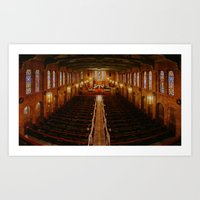 Old Warm Church Art Print