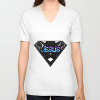 jesus V-neck T-shirts featuring JESUS by Naje Anthony Hart