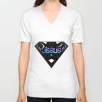 jesus V-neck T-shirts featuring JESUS by Naje Anthony Hart