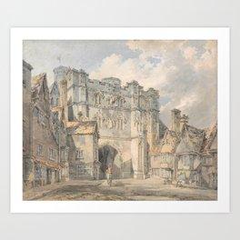 "J.M.W. Turner ""Christ Church Gate, Canterbury"" Art Print"