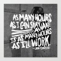 jon contino Canvas Prints featuring Jon Contino on Work Ethic by Josh LaFayette