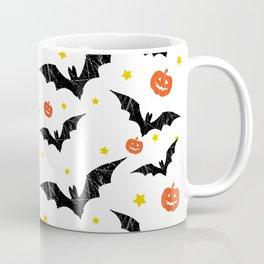Halloween Pumpkins And Bats Coffee Mug