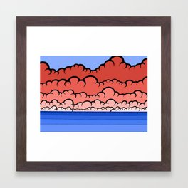 Foggy At Sea Framed Art Print