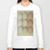 eggs Long Sleeve T-shirts featuring Eggs by Pure Nature Photos