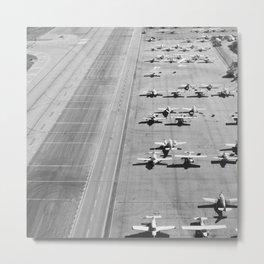 Planes Modern Black and White Photograph Metal Print