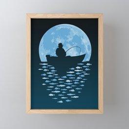 Hooked by Moonlight Framed Mini Art Print