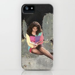 Girl Reading 2 iPhone Case