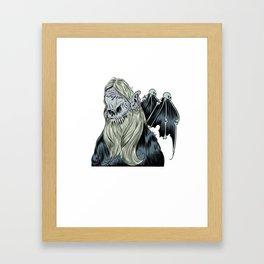 Bearded Creep with Wings Framed Art Print