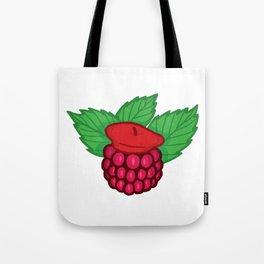 Raspberry Beret Tote Bag