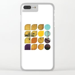 Cold Comfort Collage — Drippy Tag Clear iPhone Case