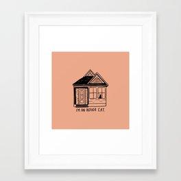 Indoor Cat (house) Framed Art Print