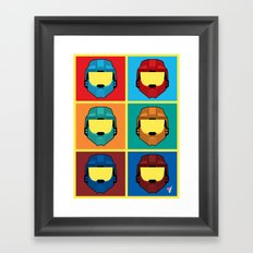 Warhol's Red vs Blue Framed Art Print