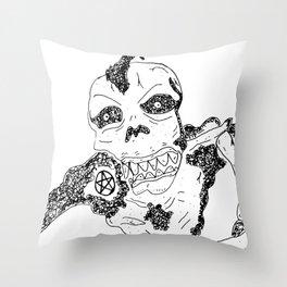 Skvll Face Throw Pillow