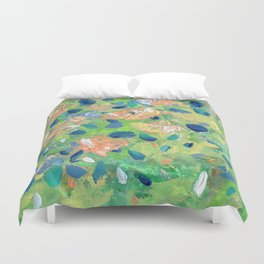 Just Because - Abstract floral Duvet Cover