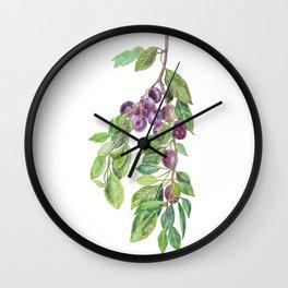 A plum tree branch Wall Clock