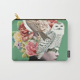 Lady with Birds(portrait) 2 Carry-All Pouch