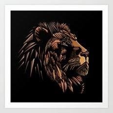 Lion Abstract Illustration Art Print