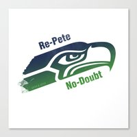 seahawks Canvas Prints featuring Re-Pete Seahawks! by CSL2