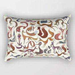 Foxy Pattern Rectangular Pillow
