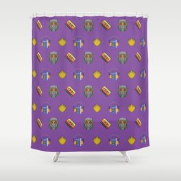 Awesome Mix Vol 1- Space Gem Purple Shower Curtain