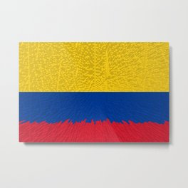 Extruded flag of Columbia Metal Print