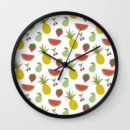 Fruits of Summer Wall Clock
