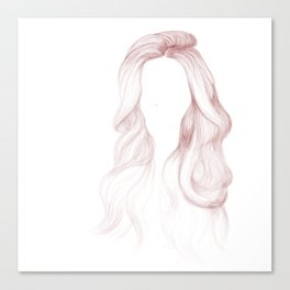 Red Wavy Hair Canvas Print
