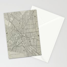Vintage Map of Paterson NJ (1920) Stationery Cards