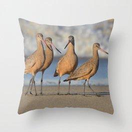 the godwits Throw Pillow
