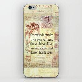 Alice in Wonderland. Quote iPhone Skin