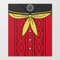 persona 4 Canvas Prints featuring Persona 4 Yukiko Amagi Uniform by Bunny Frost