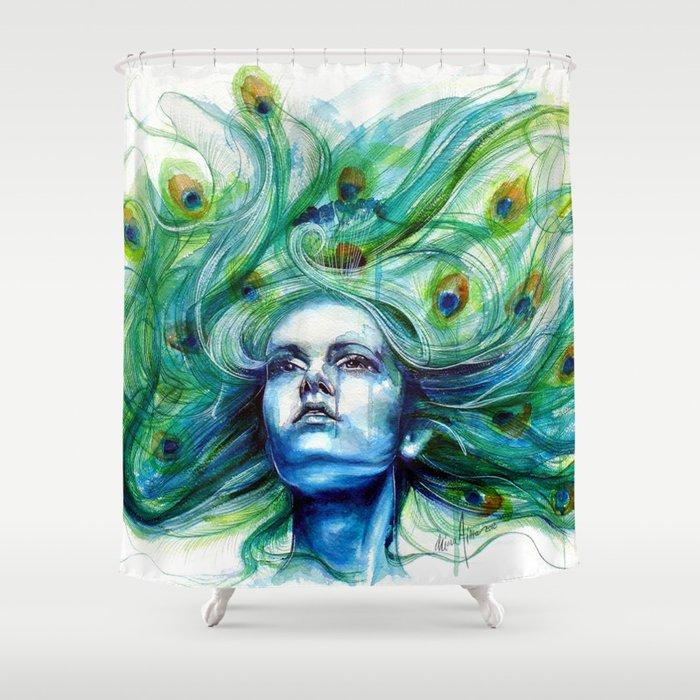 Peacock- Metamorphosis Shower Curtain