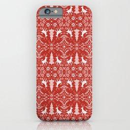 Winter Woodland Scene iPhone Case