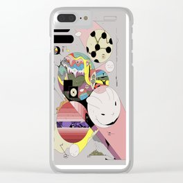 Spiteful Happy Clear iPhone Case