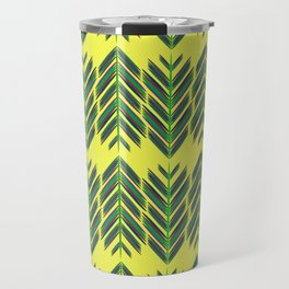 Green feathers Travel Mug