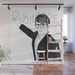 Jason Schwartzman writing on chalkboard Wall Mural