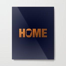 Arkansas home state faux copper foil print Metal Print