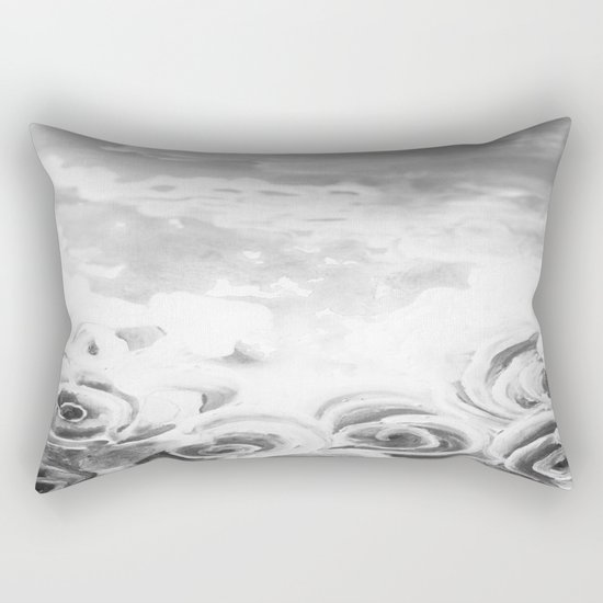 Fading Roses Silver Lining Rectangular Pillow