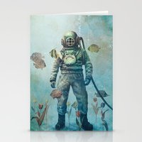 garden Stationery Cards featuring Deep Sea Garden  by Terry Fan
