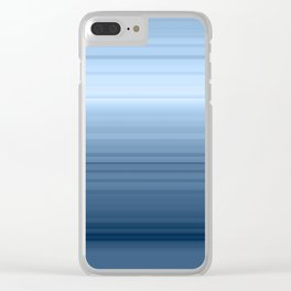 gradient , smoky, gray, blue , stripes Clear iPhone Case