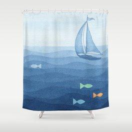 Coloured fish say hooray Shower Curtain