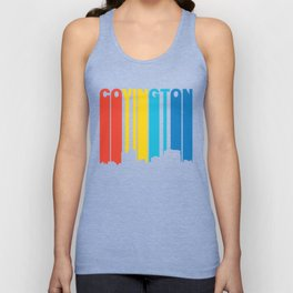 Retro 1970's Style Covington Kentucky Skyline Unisex Tank Top