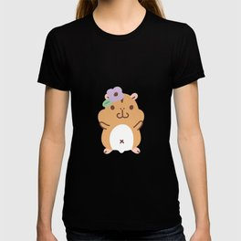 Hamster and Flower T-shirt