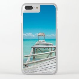 Belize Blues Clear iPhone Case